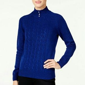 NWT Blue pearl buttons sweater